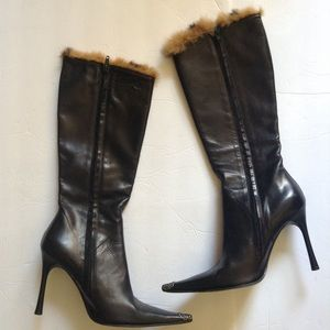 Giancarlo Paoli Leather and Fur Boots